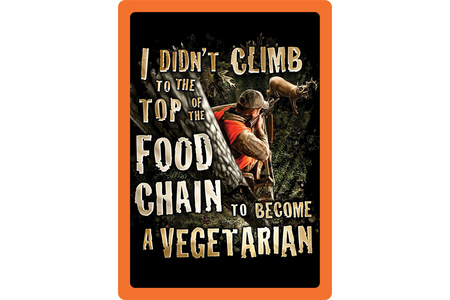VEGETARIAN TIN SIGN