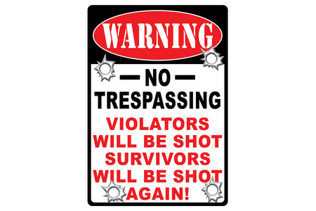WARNING-NO TRESPASSING TIN SIGN