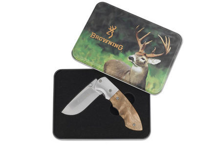 KNIFE, SHOT WHITETAIL TIN