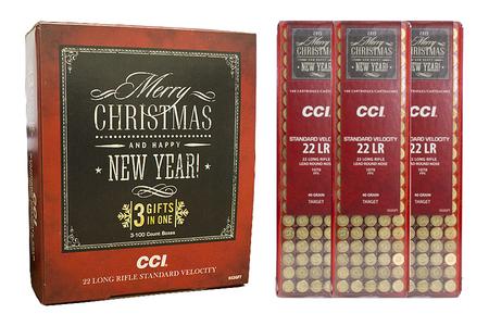 CCI AMMUNITION 22LR 40 gr Lead Round Nose Standard Velocity 300 Round Christmas Bundle