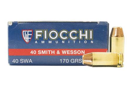 FIOCCHI 40SW 170 gr FMJTC Shooting Dynamics Trade Ammo 50/Box