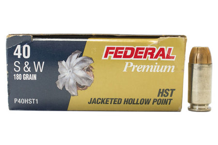 FEDERAL AMMUNITION 40SW 180 gr HST Tactical Trade Ammo 50/Box