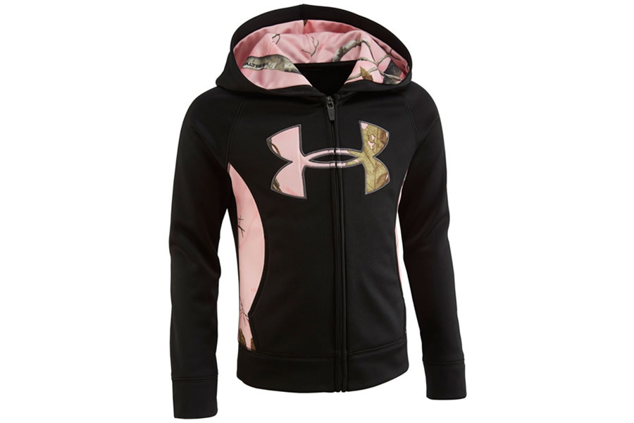 0b814472bf81 UNDER ARMOUR KIDS REALTREE LOGO HOODIE GIRLS