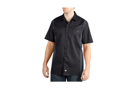 TWO-TONE WORK BUTTON UP WORK SHIRT