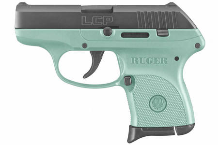 RUGER LCP 380 ACP W/ TURQUOISE CERAKOTE GRIP