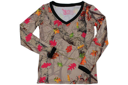HOT LEAF V NECK JERSEY L/S