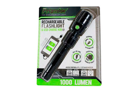 PROMIER 1000 Lumen Rechargeable Flashlight