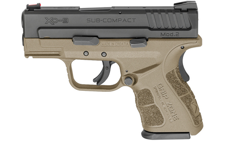 SPRINGFIELD XD MOD.2 9MM SUB-COMPACT FLAT DARK EARTH