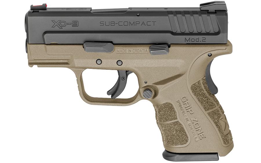 Springfield Xd Mod2 9mm Sub Compact Flat Dark Earth Fde With