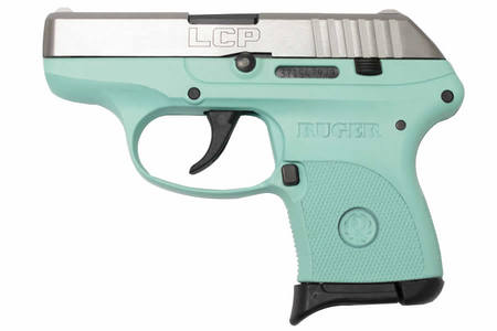 RUGER LCP 380 Auto Turquoise Carry Conceal Pistol w/ Nickel Slide (TALO Exclusive)