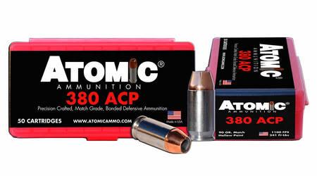 Atomic Ammuntion 380 ACP 90 gr Match Hollow Point 50/Box