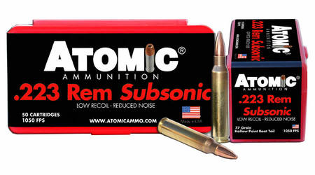 Atomic Ammuntion 223 Rem 77 gr HPBT Subsonic 50/Box