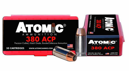 Atomic Ammuntion 380 ACP 100 gr Match Hollow Point 50/Box