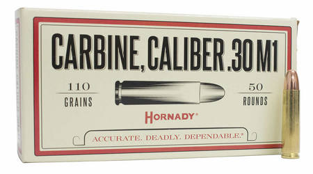 HORNADY 30 Carbine 110 gr FMJ Custom 50/Box