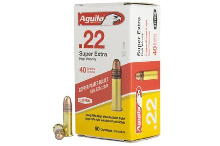 Aguila 22LR 40 gr Super Extra HV Copper-Plated Solid Point 50/Box