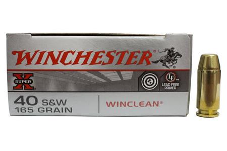 Winchester 40SW 165 gr Winclean Super X Trade Ammo 50/Box
