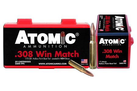 Atomic Ammuntion 308 Win 175 gr HPBT Match 50/Box