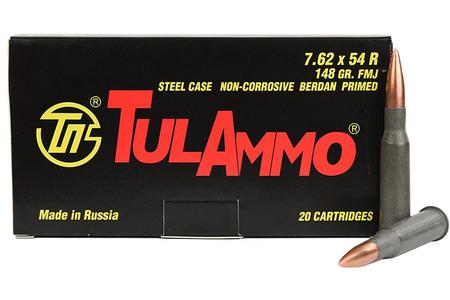 TULA AMMO 7.62x54R 148 gr FMJ Steel Case 20/Box