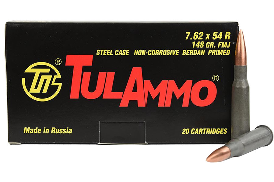 7.62X54R 148 GR FMJ STEEL CASE 20/BOX