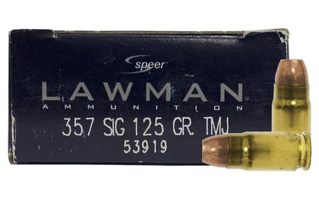 Speer 357 Sig 125 gr TMJ Lawman Trade Ammo 50/Box