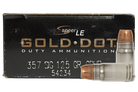 SPEER AMMUNITION 357 Sig 125 gr Hollow Point Gold Dot Trade Ammo 50/Box