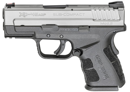 Springfield Armory XD Mod.2 .45ACP Stainless Steel 3.3in. 13Rd Sub-Compact Pistol XDG9845SHC