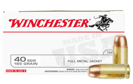 WINCHESTER AMMO 40SW 165 gr FMJ Police Trade-in Ammo 50/Box