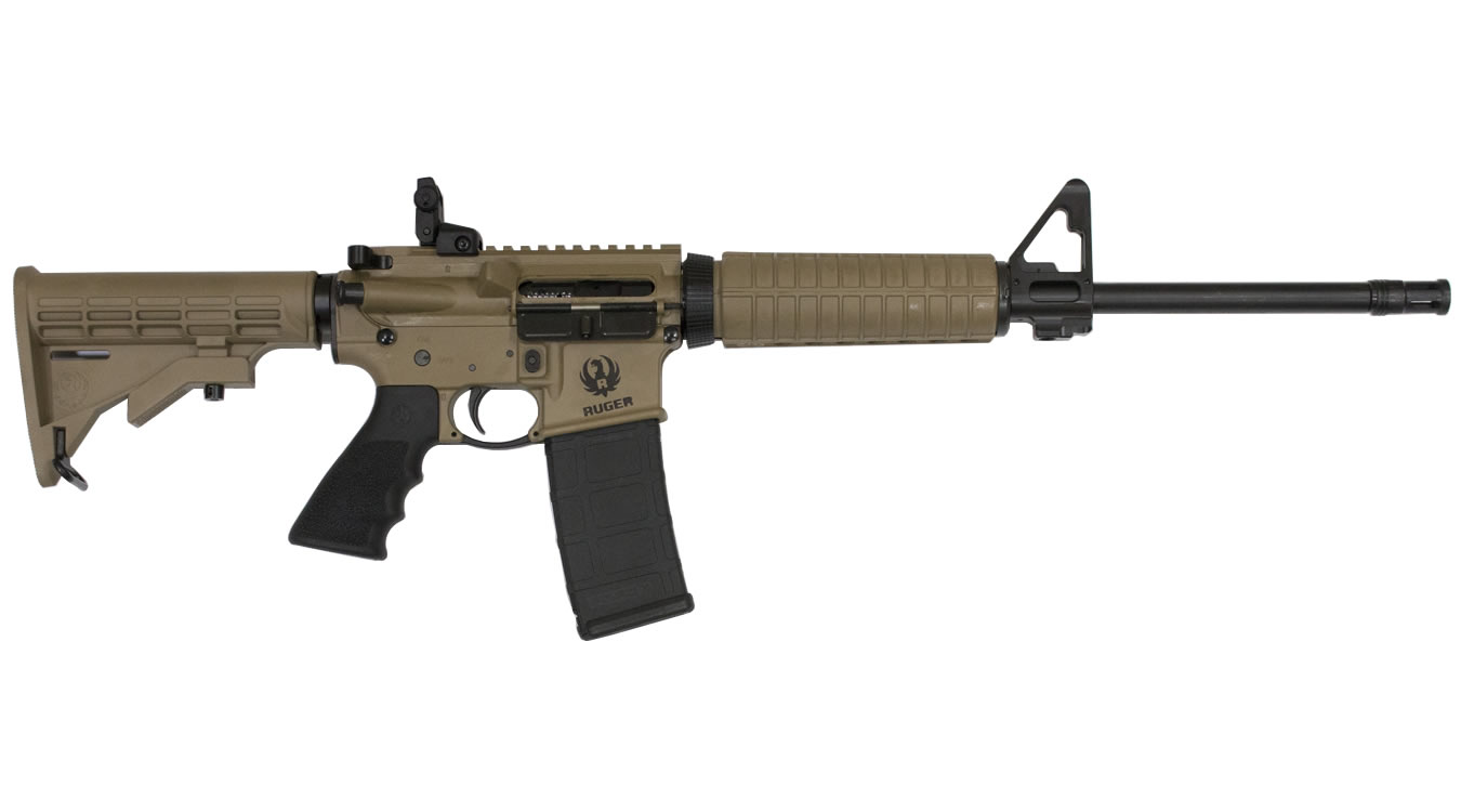 RUGER AR-556 5.56 BARRETT BROWN CERAKOTE