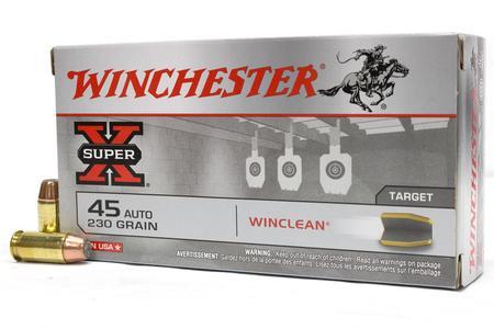 Winchester 45 Auto 230 gr Winclean BEB Super-X Police Trade 500 Round Case