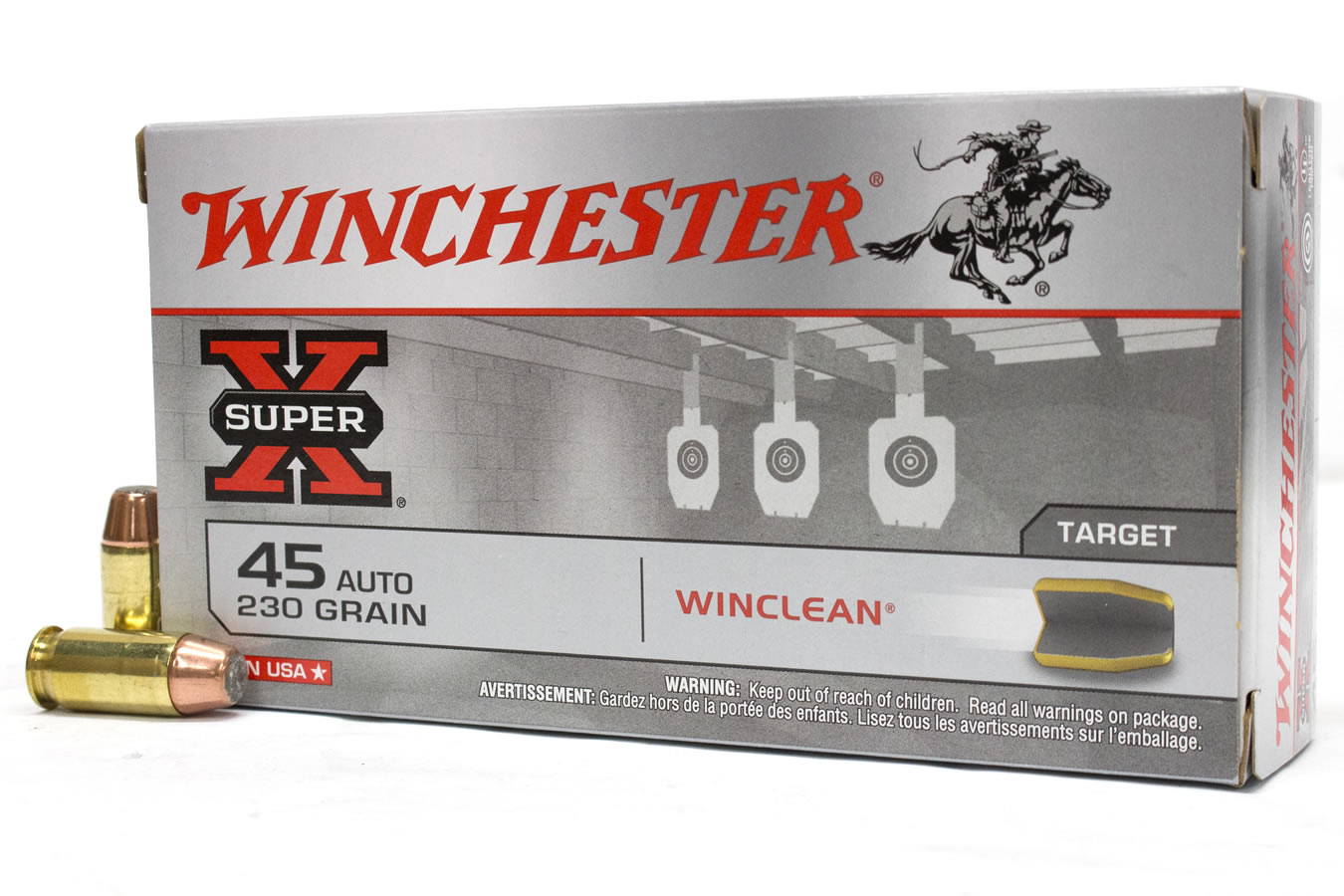 45 ACP 230 GR WINCLEAN BEB SUPER-X TRADE