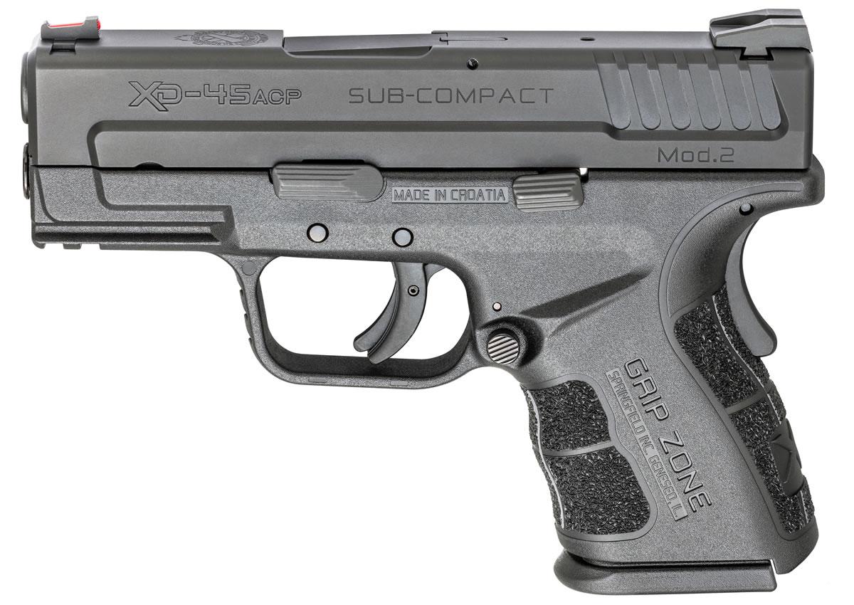 XD Mod 2  45 ACP Sub-Compact Black Essentials Package
