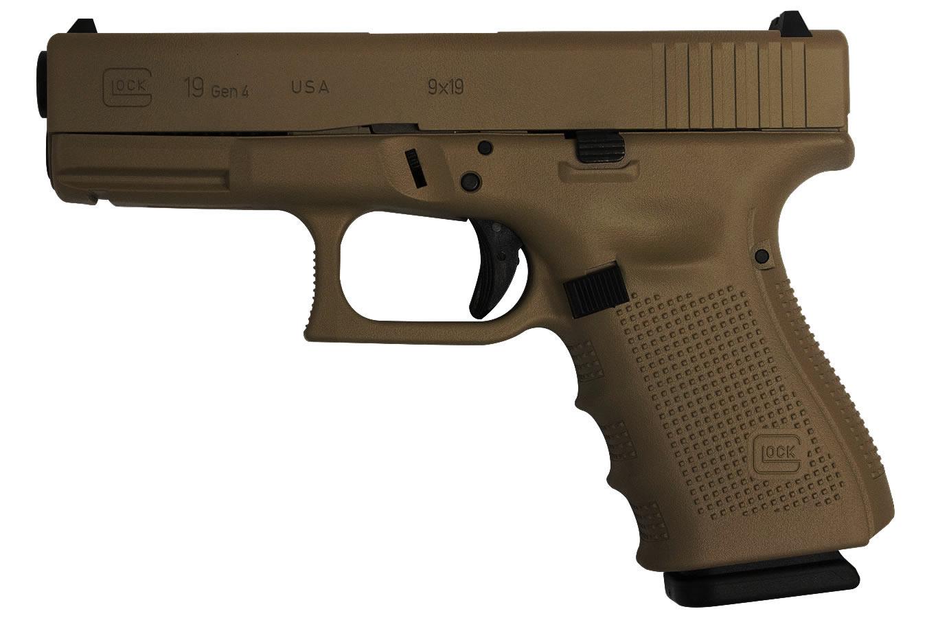 Glock 19 Gen4 9mm 15 Round Pistol With Hot Cerakote Burnt Bronze