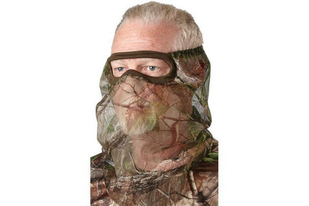 HUNTERS SPECIALTIES FACEMASK 3/4 XTRA GREEN NET