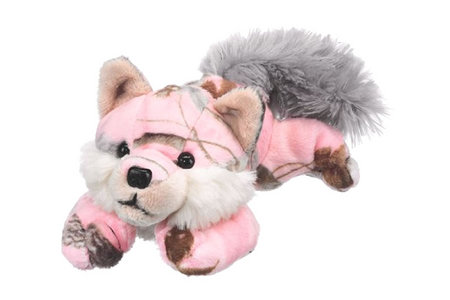 PINK CAMO WOLF SUFFED ANIMAL