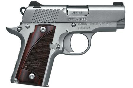 KIMBER MICRO STAINLESS ROSEWOOD 380 ACP