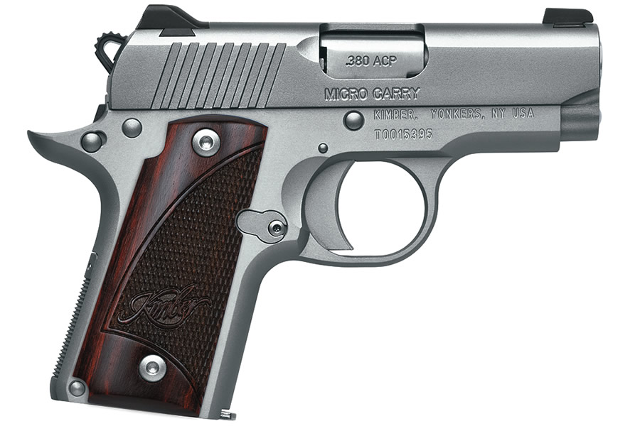 MICRO STAINLESS ROSEWOOD 380 ACP