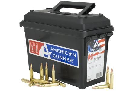 Hornady 223 Rem 55 gr HP American Gunner 247 Round Ammo Can