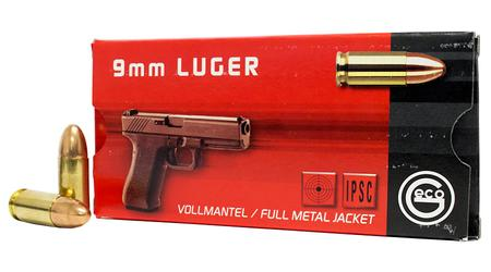 Geco 9mm Luger 124 gr FMJ Ammo 50/Box