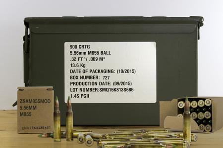 Federal 5.56 NATO 62 gr M855 Lake City SS109 Penetrator 900 Rounds in Ammo Can