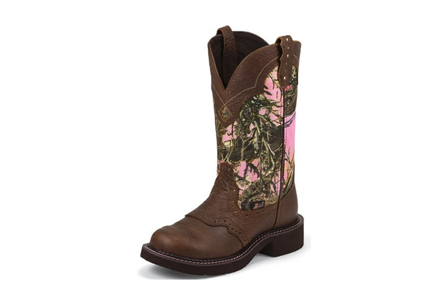 justin boots pink camo vance outdoors