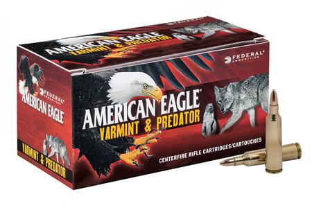 Federal 223 Rem 50 gr JHP Varmint and Predator 50/Box