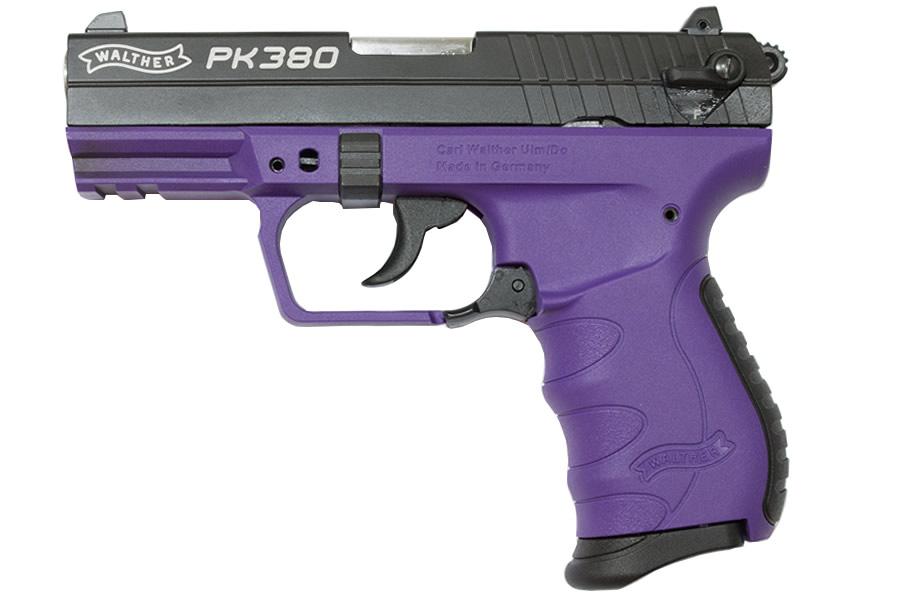 walther pk380 380 acp black and purple pistol sportsman