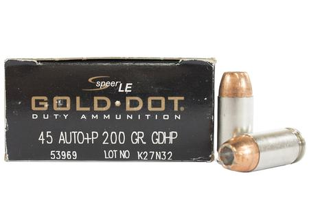 SPEER AMMUNITION 45 ACP +P 200 gr HP Gold Dot Trade Ammo 50/Box