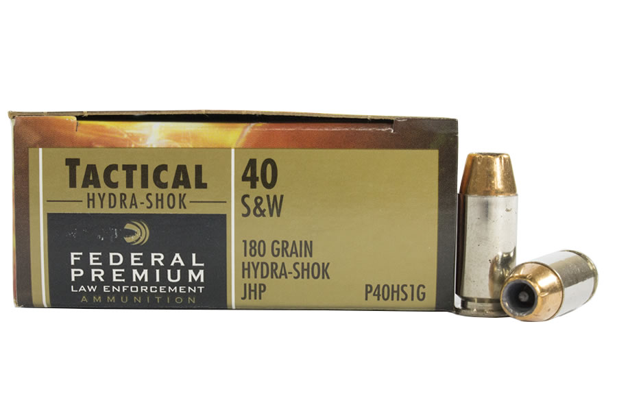 Federal 40 S Amp W 180 Gr Hydra Shok Jhp Tactical Trade Ammo