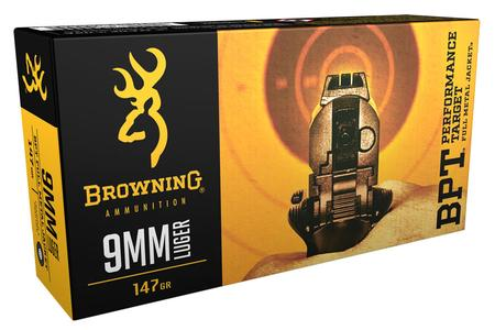 Browning Ammunition 9mm Luger 147 gr FMJ BPT Performance Target 50/Box