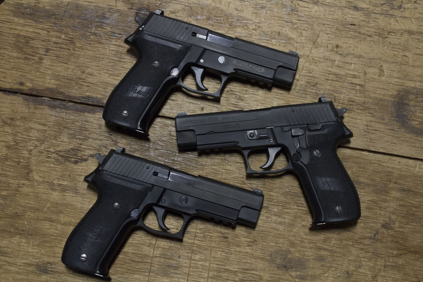 sig sauer p226r 40 s w da sa police trade ins with rail good