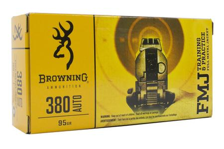 BROWNING AMMUNITION 380 Auto 95 gr FMJ Training and Practice 50/Box