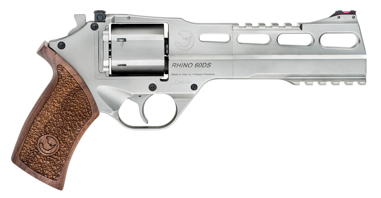 White Rhino 60DS 40 S&W Revolver with 6-inch Barrel and Brushed Nickel  Finish