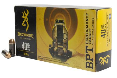 BROWNING AMMUNITION 40SW 180 gr FMJ BPT Performance Target 50/Box
