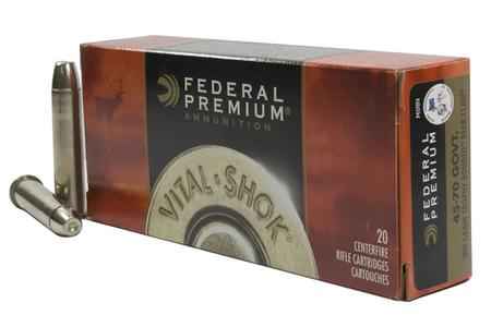 FEDERAL AMMUNITION 45-70 Govt 300 gr Trophy Bonded Bear Claw Vital-Shok 20/Box